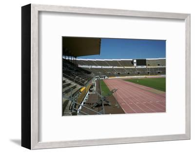 Interior of Olympic stadium in Helsinki, 1930s-Unknown-Framed Photographic Print