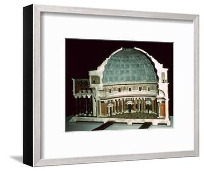 Model of the Pantheon, 1st century-Unknown-Framed Giclee Print