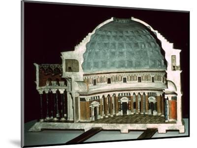 Model of the Pantheon, 1st century-Unknown-Mounted Giclee Print