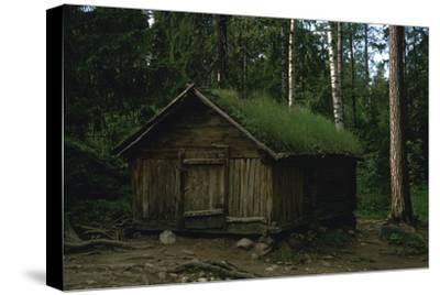 Lapland hut-Unknown-Stretched Canvas Print