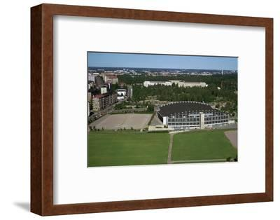 Olympic ice rink from tower of Olympic Stadium, 1930s-Unknown-Framed Photographic Print