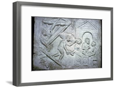 Roman relief of a ship-Unknown-Framed Giclee Print