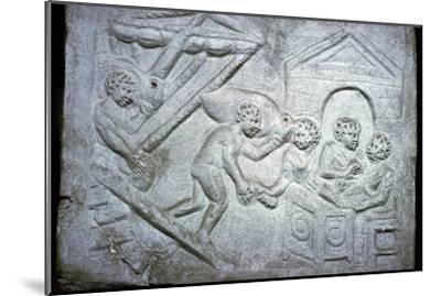 Roman relief of a ship-Unknown-Mounted Giclee Print