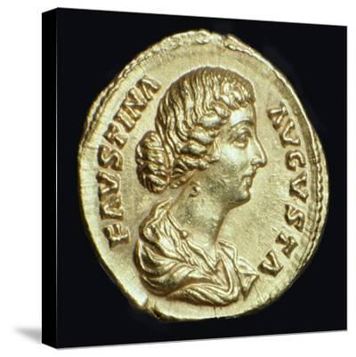 Gold coin of Faustina II, 2nd century-Unknown-Stretched Canvas Print