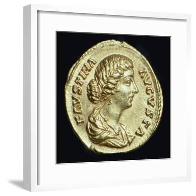 Gold coin of Faustina II, 2nd century-Unknown-Framed Giclee Print