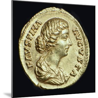 Gold coin of Faustina II, 2nd century-Unknown-Mounted Giclee Print