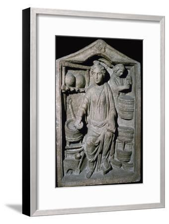 Roman relief of a Pharmacy Shop-Unknown-Framed Giclee Print