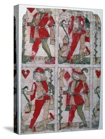 French playing cards, 15th century-Unknown-Stretched Canvas Print