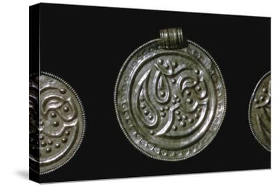 Gold Iron Age Bracteate-Unknown-Stretched Canvas Print