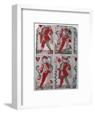 French playing cards, 15th century-Unknown-Framed Giclee Print