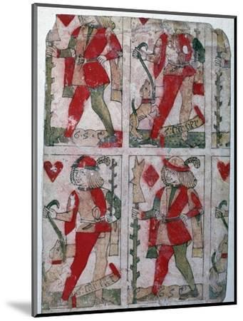 French playing cards, 15th century-Unknown-Mounted Giclee Print