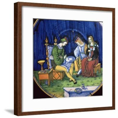Dish known as the Portrait Painter, 15th century-Unknown-Framed Giclee Print