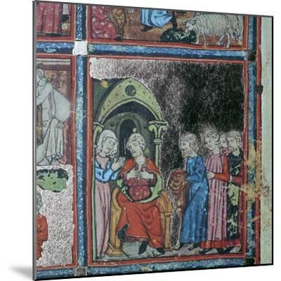 Illustration from the Golden Haggadah, 15th century-Unknown-Mounted Giclee Print