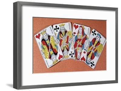 French playing cards, 19th century-Unknown-Framed Giclee Print