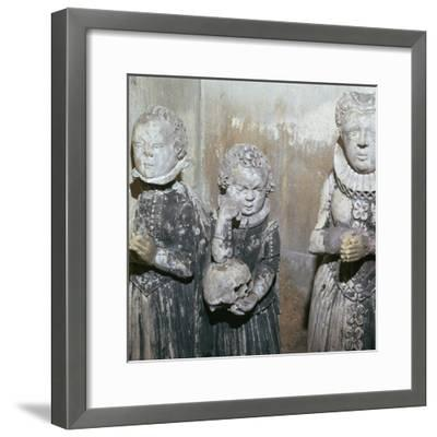 The children of Sir John Scudamore at his tomb, 17th century-Unknown-Framed Giclee Print