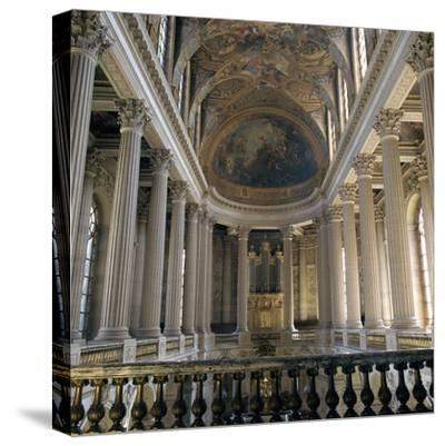 Upper floor of the Chapel of Versailles, 17th century-Unknown-Stretched Canvas Print