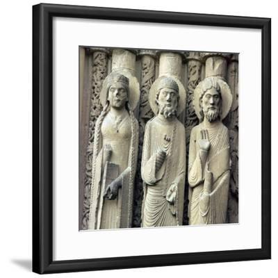 Detail of Chartres Cathedral, 12th century-Unknown-Framed Giclee Print