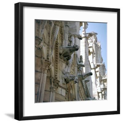 Detail of the north side of Notre Dame, 12th century-Unknown-Framed Photographic Print