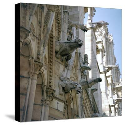 Detail of the north side of Notre Dame, 12th century-Unknown-Stretched Canvas Print
