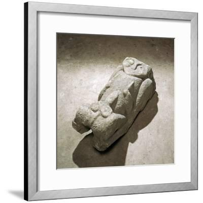 Carved stone figure from Margam Abbey, 12th century-Unknown-Framed Giclee Print