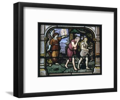 Detail of a stained glass window in Chartres, 19th century-Unknown-Framed Giclee Print