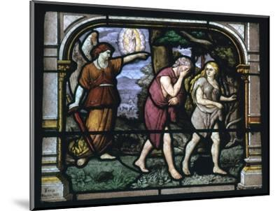 Detail of a stained glass window in Chartres, 19th century-Unknown-Mounted Giclee Print