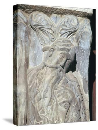 Detail from the church of St Pierre, 12th century-Unknown-Stretched Canvas Print