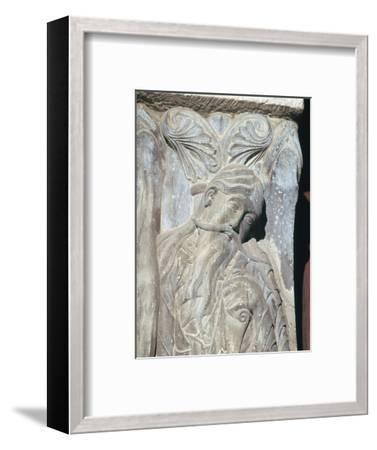 Detail from the church of St Pierre, 12th century-Unknown-Framed Giclee Print