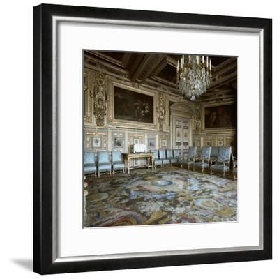 Salon of Louis XIII in Fontainebleau, 17th century-Unknown-Framed Photographic Print