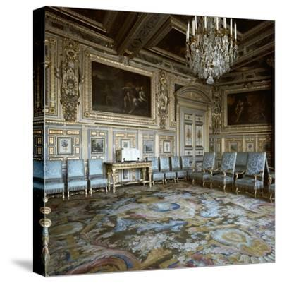 Salon of Louis XIII in Fontainebleau, 17th century-Unknown-Stretched Canvas Print