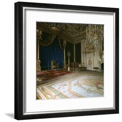 Napoleon's Throne-Room, 19th century-Unknown-Framed Photographic Print