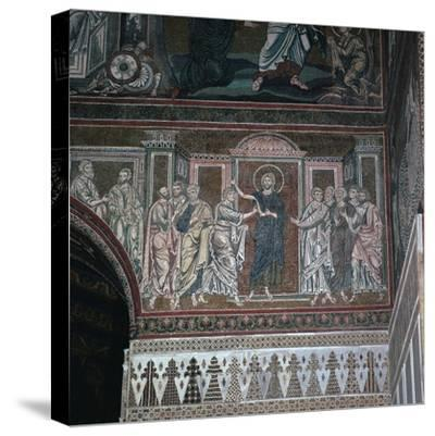 A mosaic of Doubting Thomas, 12th century-Unknown-Stretched Canvas Print