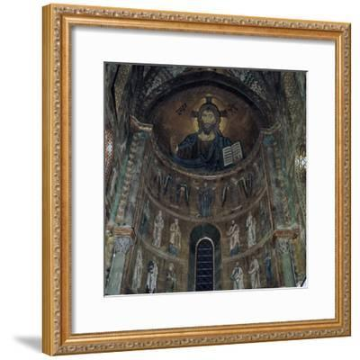 The Pantocrator Mosaic in Cefalo Cathedral, 12th century-Unknown-Framed Photographic Print