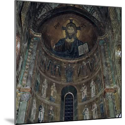 The Pantocrator Mosaic in Cefalo Cathedral, 12th century-Unknown-Mounted Photographic Print