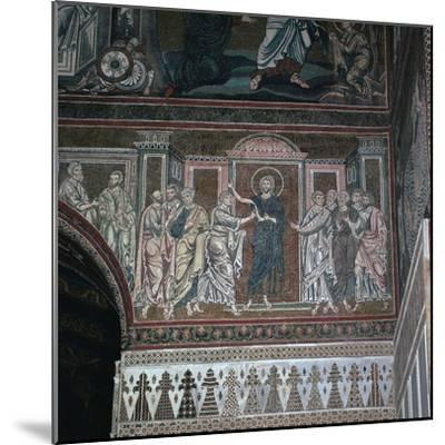 A mosaic of Doubting Thomas, 12th century-Unknown-Mounted Giclee Print
