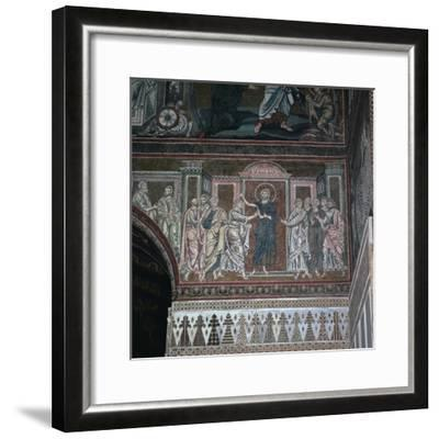 A mosaic of Doubting Thomas, 12th century-Unknown-Framed Giclee Print