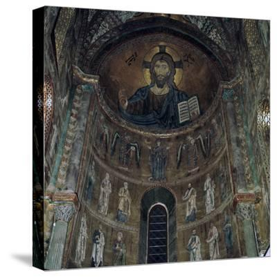The Pantocrator Mosaic in Cefalo Cathedral, 12th century-Unknown-Stretched Canvas Print