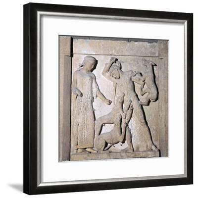 Actaeon being devoured by Artemis' dogs, 5th century BC-Unknown-Framed Giclee Print