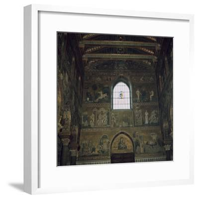Mosaics above the west door of the Cathedral in Monreale, 12th century-Unknown-Framed Photographic Print