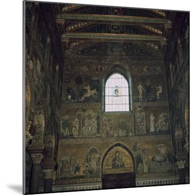 Mosaics above the west door of the Cathedral in Monreale, 12th century-Unknown-Mounted Photographic Print