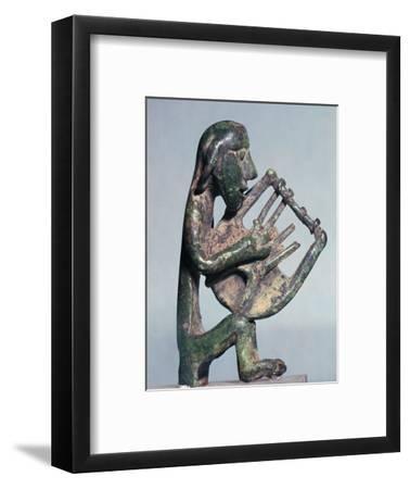 Minoan bronze of a harpist-Unknown-Framed Giclee Print