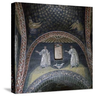 Mosaic of St Paul and St Peter in the Mausoleum of Galla Placidia, 5th century-Unknown-Stretched Canvas Print