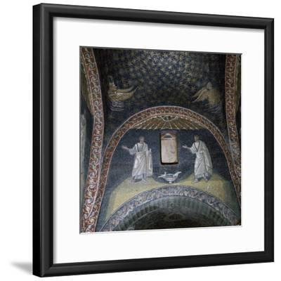 Mosaic of St Paul and St Peter in the Mausoleum of Galla Placidia, 5th century-Unknown-Framed Giclee Print
