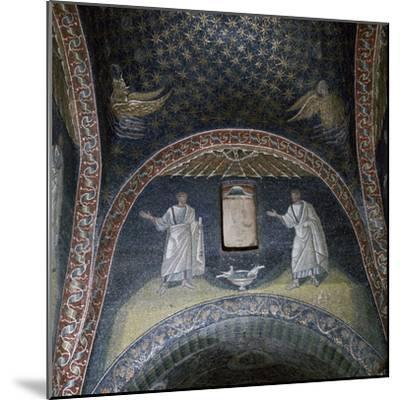 Mosaic of St Paul and St Peter in the Mausoleum of Galla Placidia, 5th century-Unknown-Mounted Giclee Print