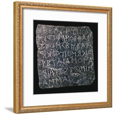 Lead plaque asking questions of an oracle at Dodon-Unknown-Framed Giclee Print