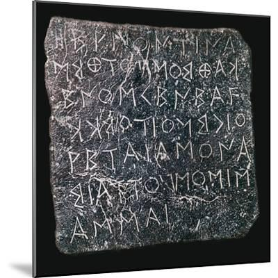 Lead plaque asking questions of an oracle at Dodon-Unknown-Mounted Giclee Print
