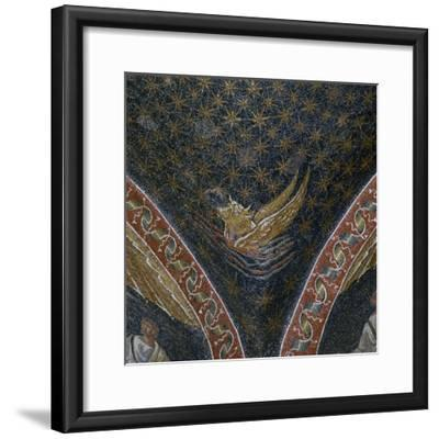 Vault mosaic from the Mausoleum of Galla Placida, 5th century-Unknown-Framed Giclee Print