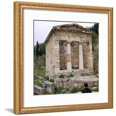 Treasury of the Athenians in Delphi, 5th century BC-Unknown-Framed Photographic Print