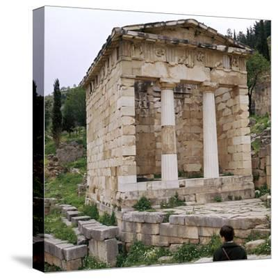 Treasury of the Athenians in Delphi, 5th century BC-Unknown-Stretched Canvas Print