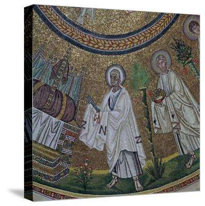 A byzantine mosaic of St Peter, 5th century-Unknown-Stretched Canvas Print